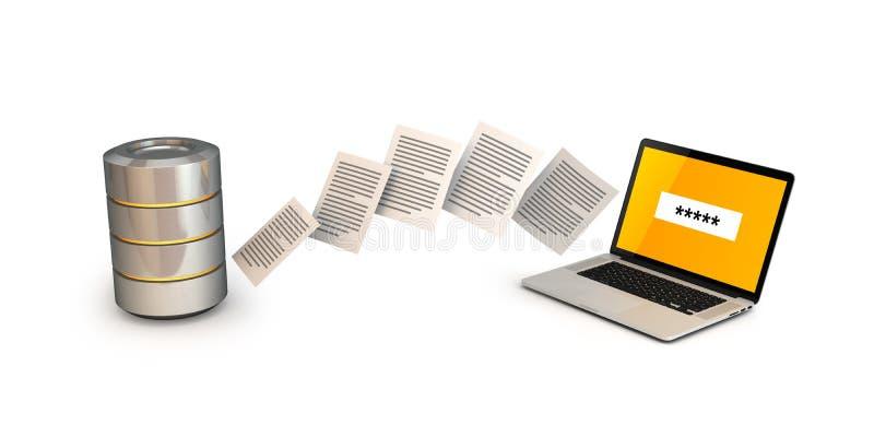 3d数据回报技术转让 库存例证