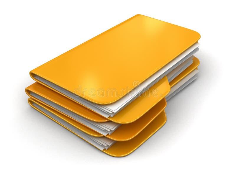 3d文件夹回报 向量例证