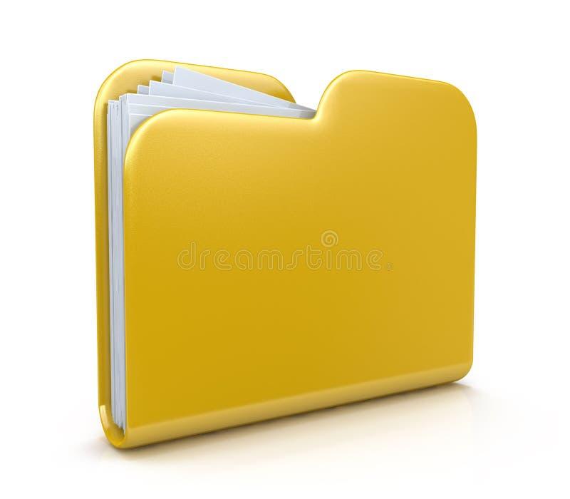 3d文件夹象 向量例证