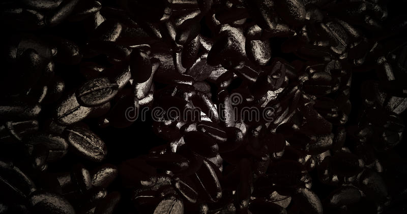 3d新鲜的咖啡豆翻译与好的颜色的 皇族释放例证