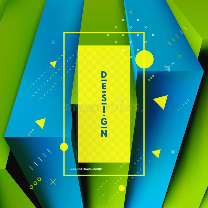 3d方块图背景 设计火笔记本模板写您 企业介绍的背景 也corel凹道例证向量 向量例证