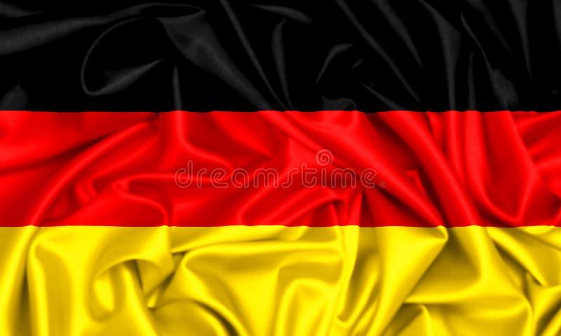 3d旗子德国挥动 库存例证