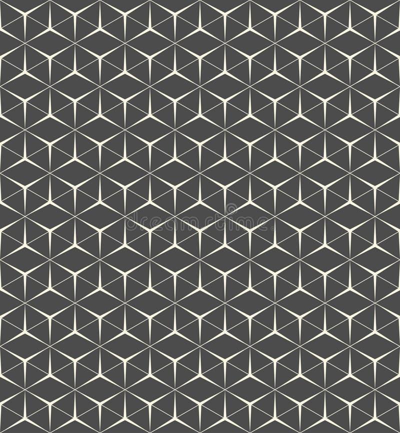 3d无缝的三角样式 抽象包装纸背景 库存例证