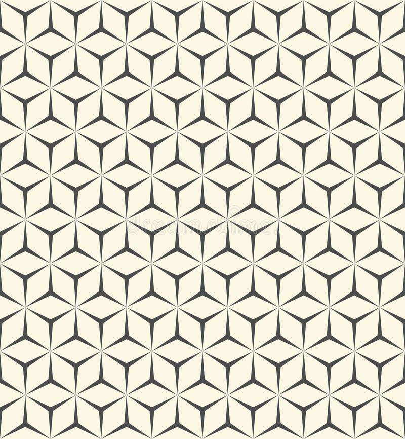 3d无缝的立方体样式 抽象包装纸背景 库存例证