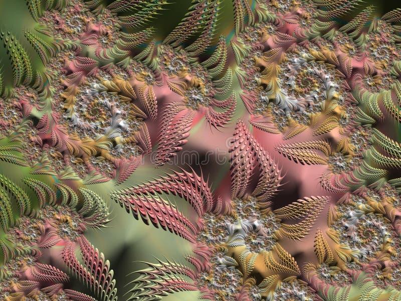 3D春天五颜六色的背景 向量例证