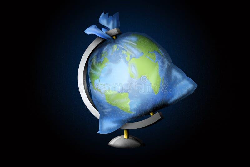 3D显示人粪尿的例证想法是星球负担 向量例证