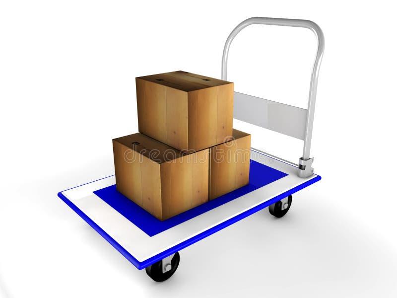 Download 3d有箱子的台车 库存例证. 插画 包括有 购物, 的treadled, 支架, 例证, 容器, 组合证券 - 30331396