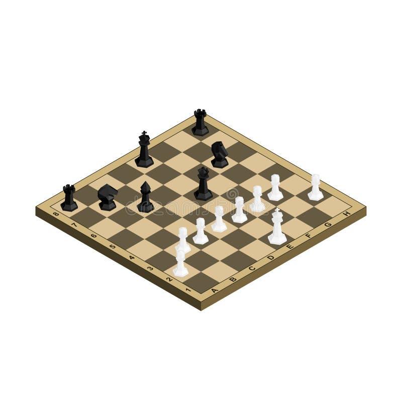 3D有黑白图的等量棋盘 向量例证