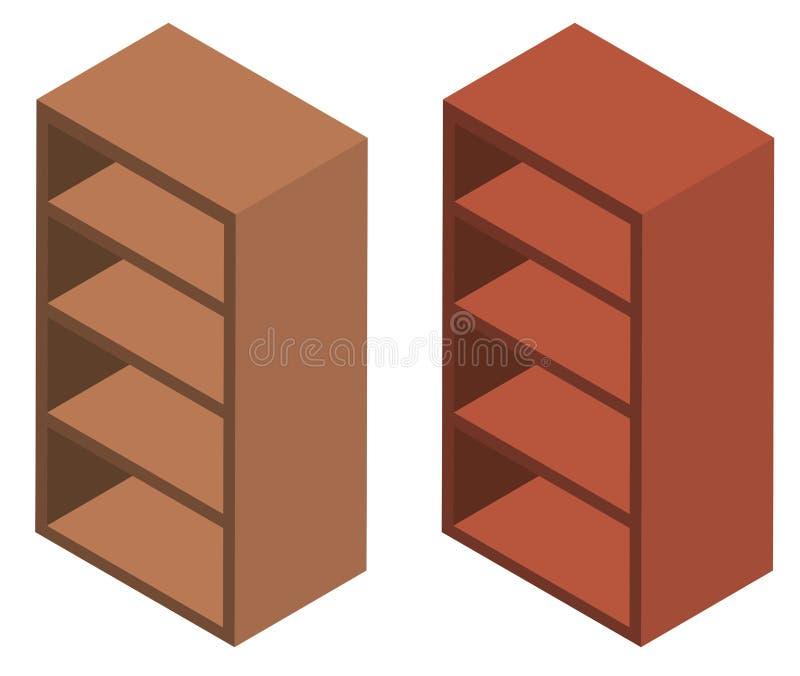 3D木架子的设计 皇族释放例证