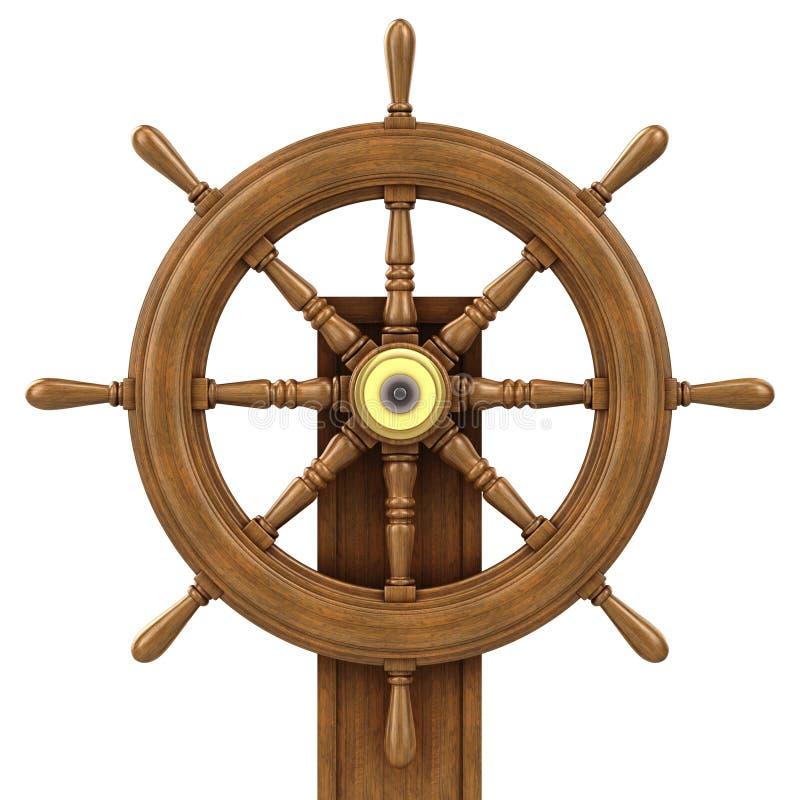 3d木船轮子 皇族释放例证