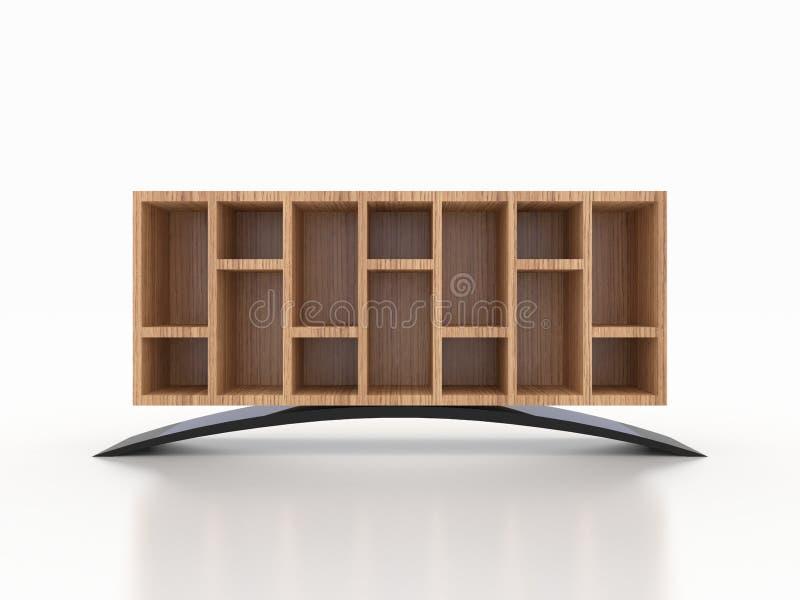 3d木钢内阁,商店,衣物,鞋子 库存照片