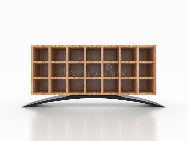 3d木钢内阁,商店,衣物,鞋子 免版税库存图片
