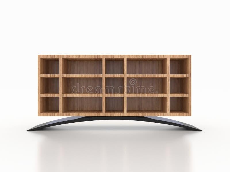 3d木钢内阁,商店,衣物,鞋子 库存图片