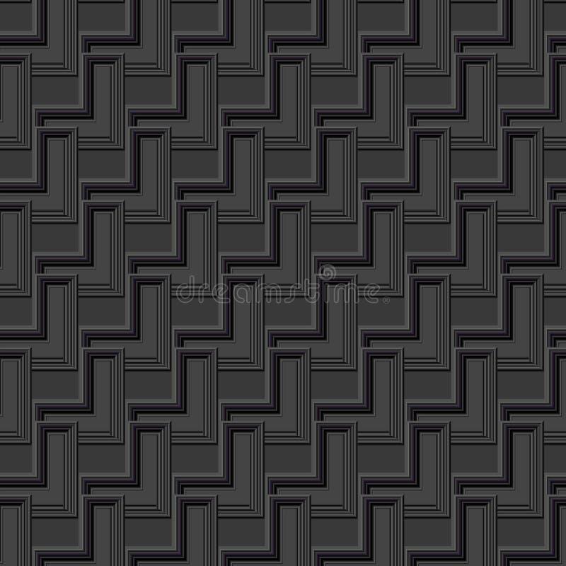 3D未来派和建筑设计的灰色单色几何抽象背景 库存例证