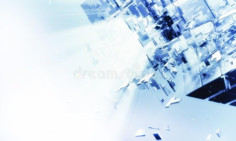 3d未来派的背景 免版税图库摄影