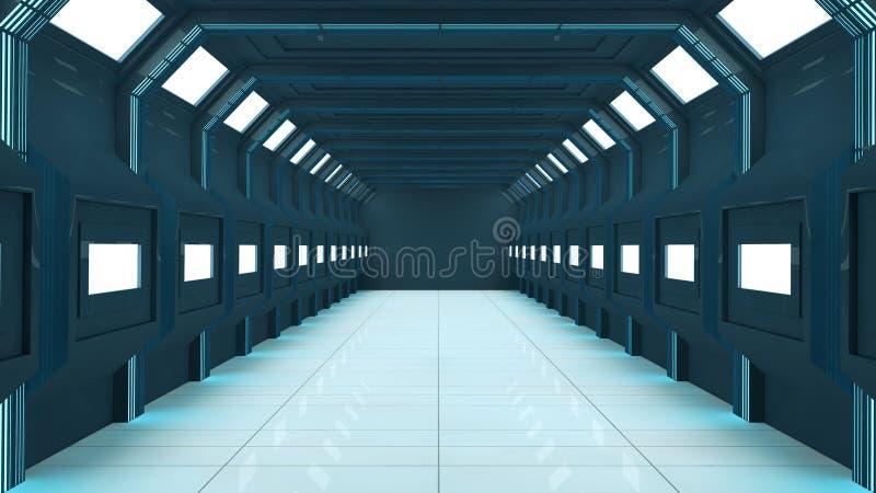 3d未来派的走廊 皇族释放例证