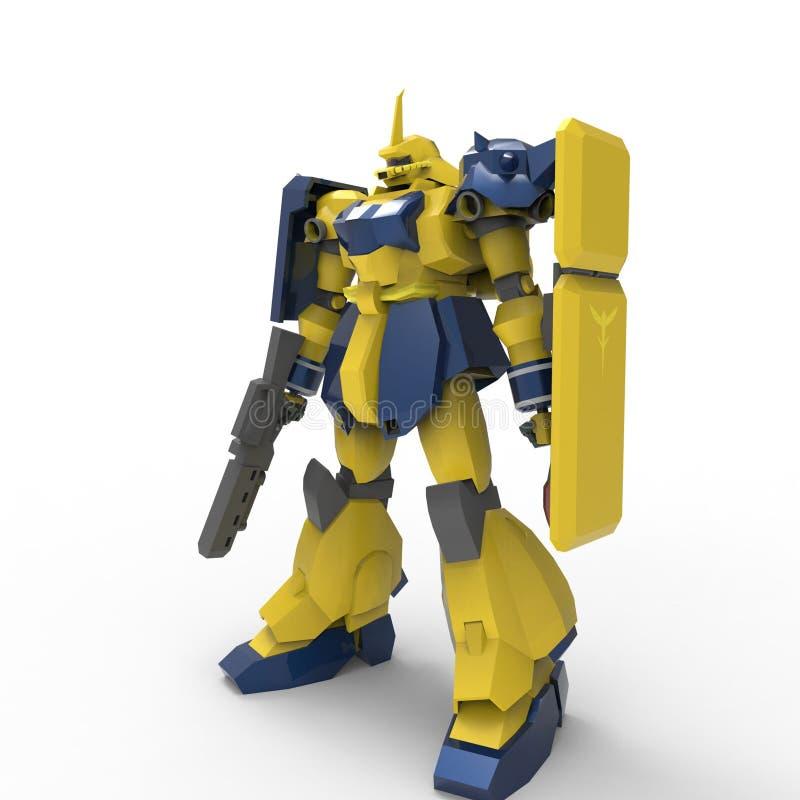 3D机器人翻译被创造通过使用搅拌器工具 皇族释放例证