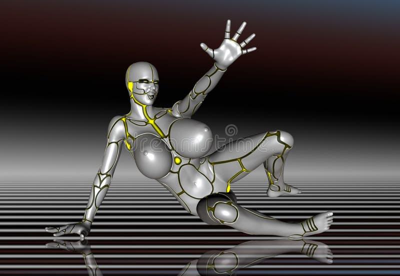 3d机器人超级女孩生活方式海报贴纸图片
