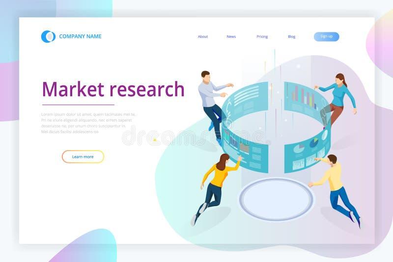 3d查出的市场研究白色 等量企业数据逻辑分析方法进程管理或智力仪表板在虚屏上 库存例证