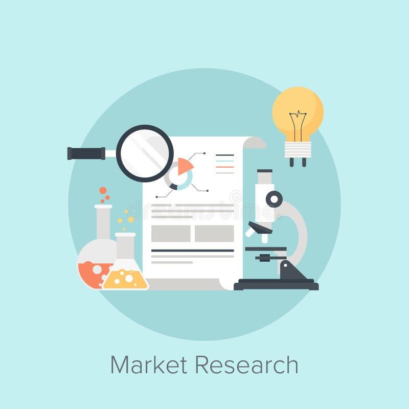 3d查出的市场研究白色 库存例证