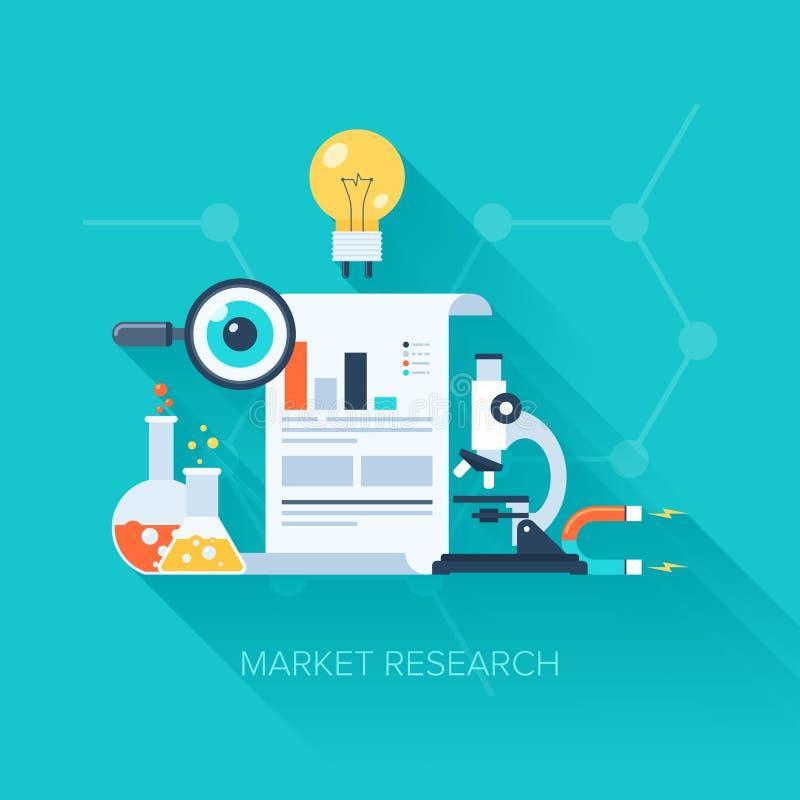 3d查出的市场研究白色 向量例证