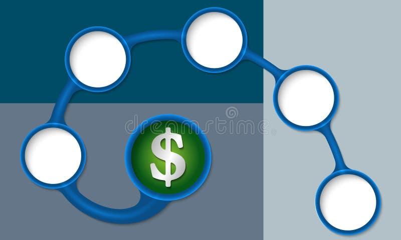 3d查出的美元高使解决方法符号空白 向量例证