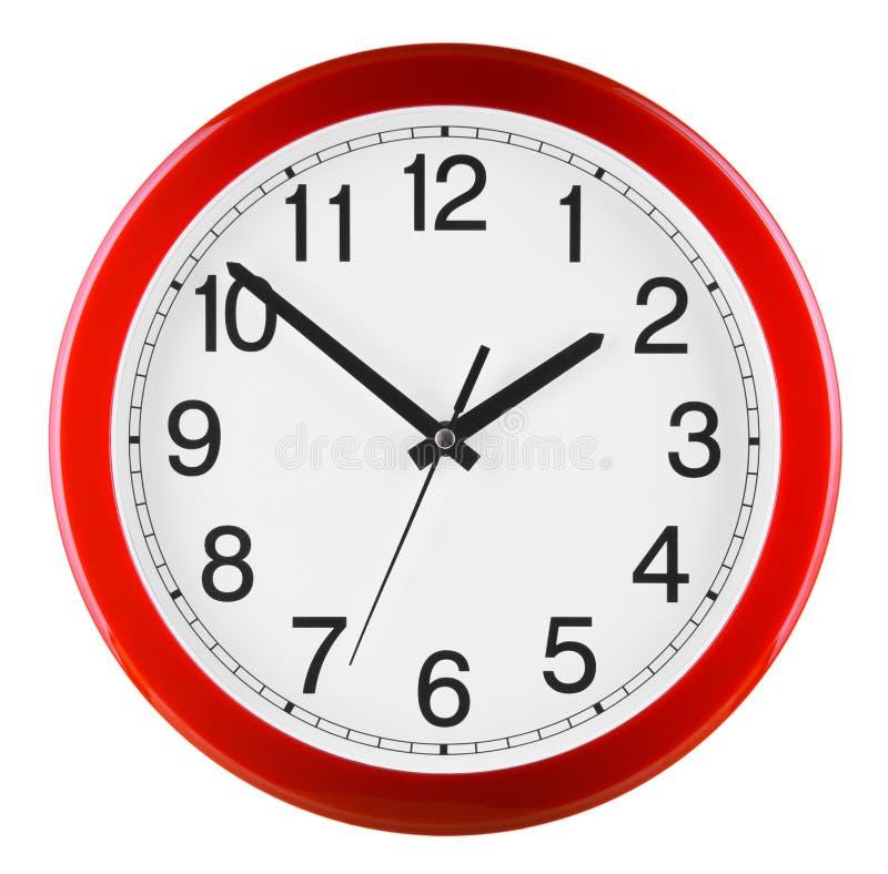 3d查出的背景时钟做墙壁白色 十到二 免版税库存图片