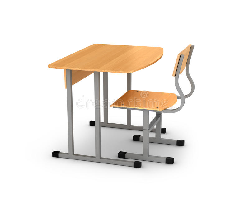 3d椅子服务台图象学校 库存例证