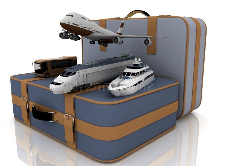 3d概念例证回报运输行程 皇族释放例证