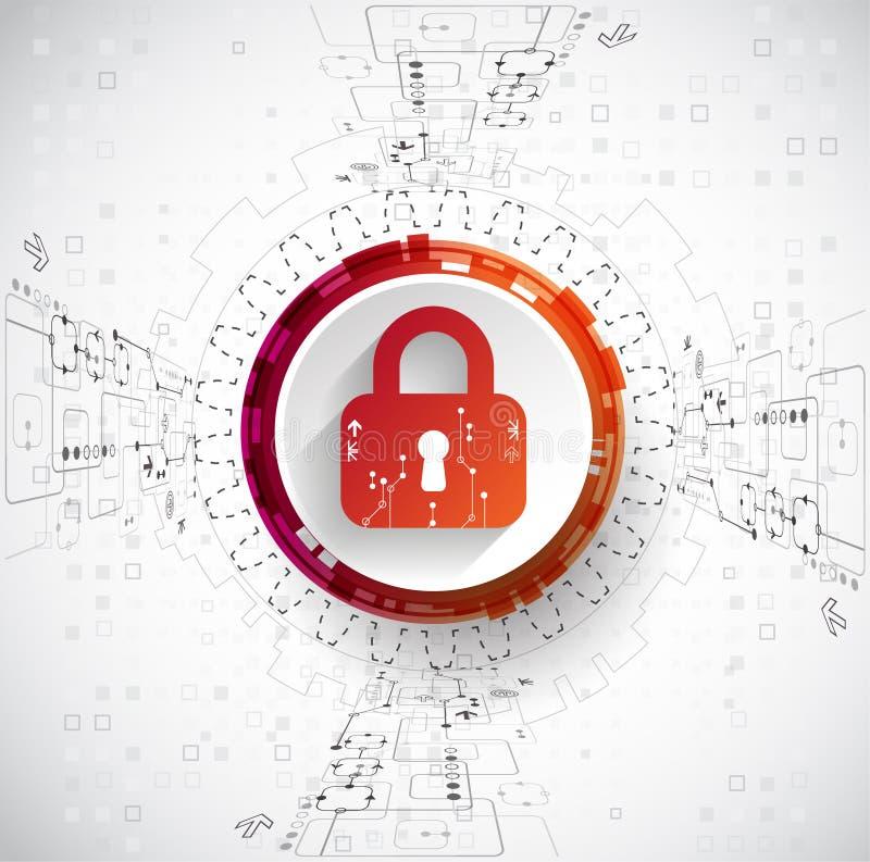 3d概念图象查出的保护白色 安全机构,系统保密性 皇族释放例证