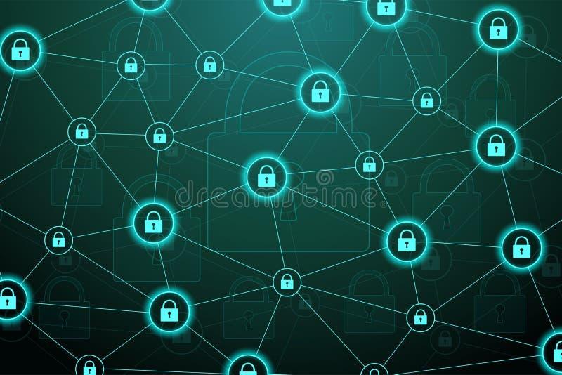 3d概念图象查出的保护白色 数据保密系统盾保护证明 网络安全和信息或者网络 皇族释放例证