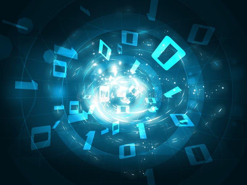 3d概念数据回报隧道 向量例证
