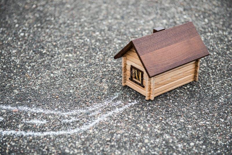 3d概念被回报的房子照片 免版税库存图片