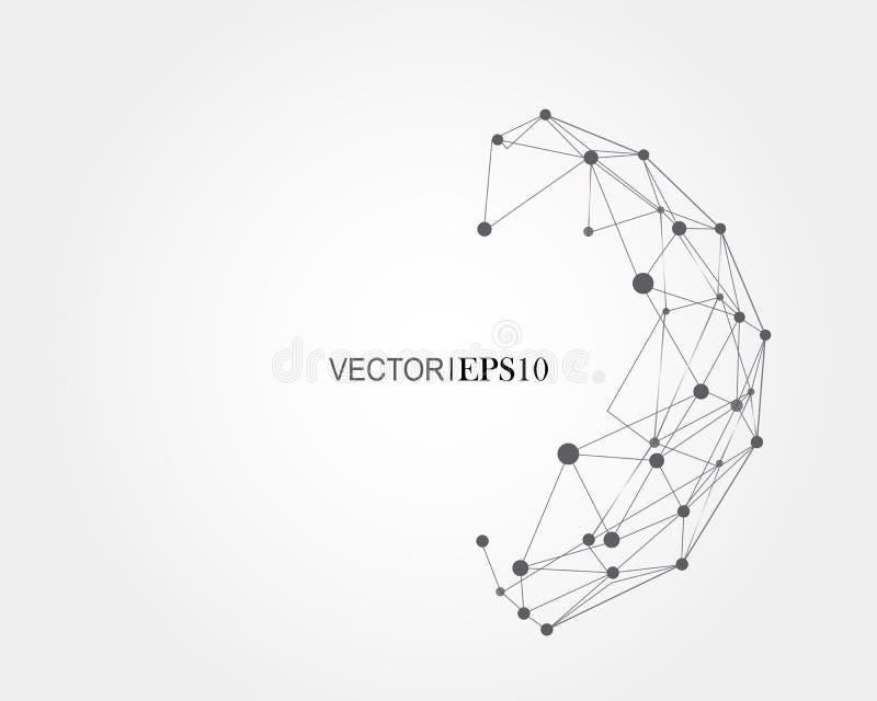 3d概念连接数齿轮机构 事务或科学的几何背景 向量例证
