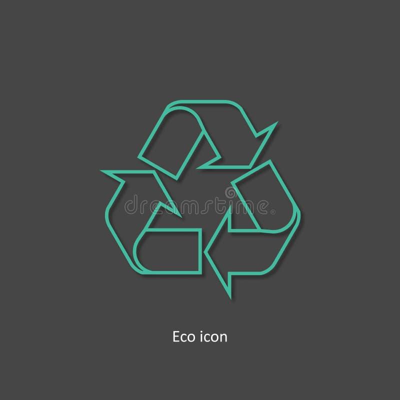 3d概述回收象 隔绝回收在时髦纸艺术3d样式的设计元素 印刷品或信息图表的Eco概念 recy 库存例证