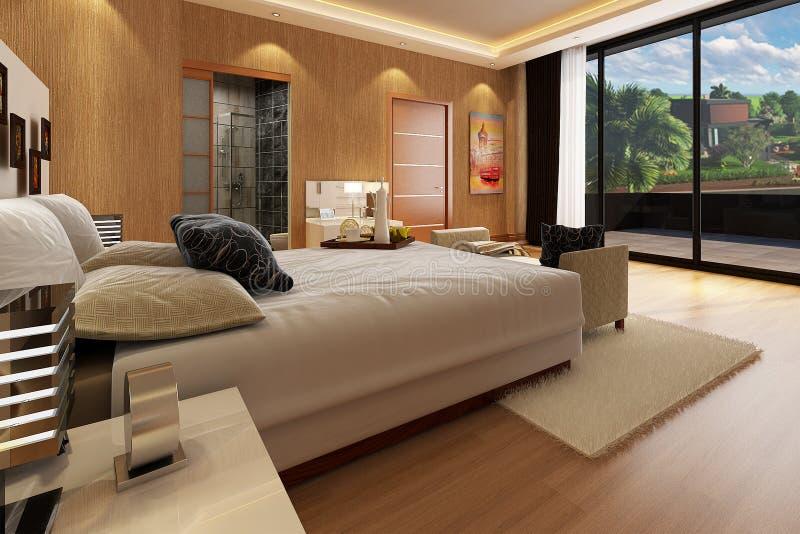 3D模型室内别墅项目 向量例证
