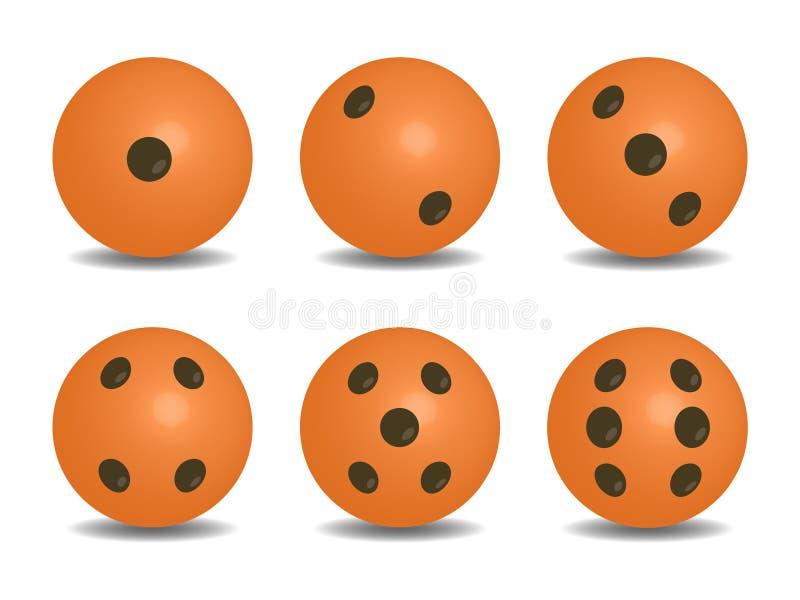 3d橘黄色传染媒介切成小方块 库存例证