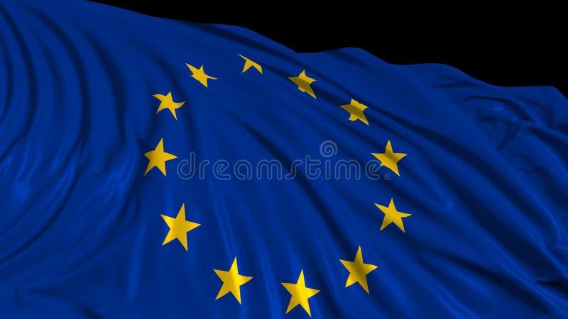 3d欧洲旗子的翻译 旗子在风顺利开发 皇族释放例证