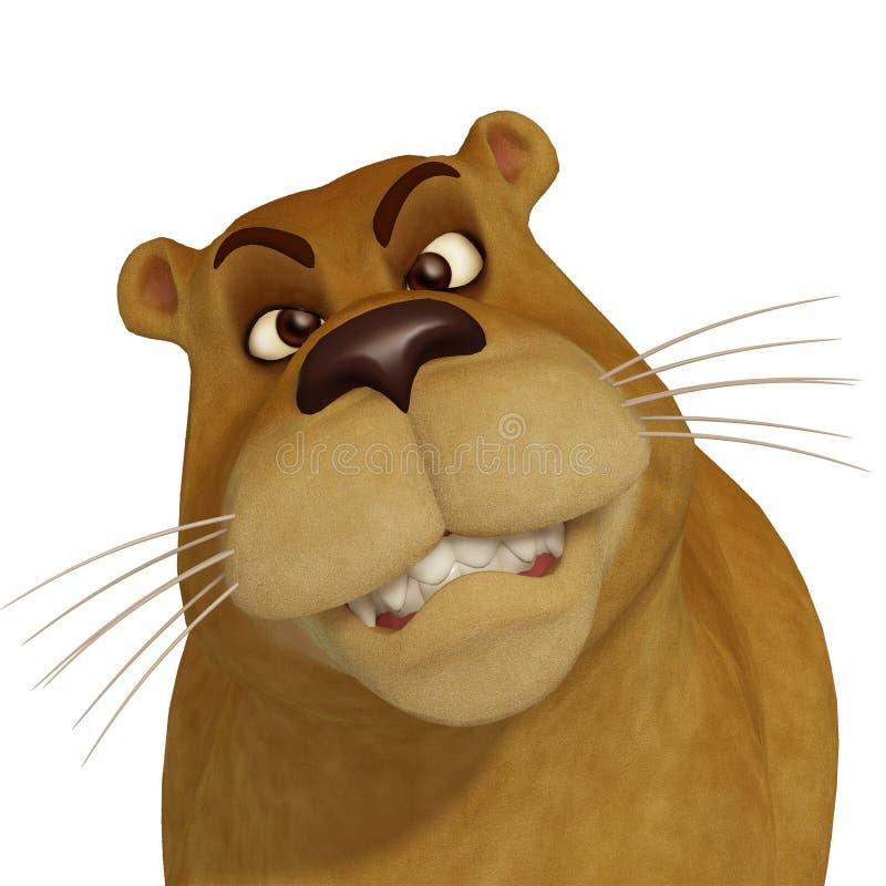 3d母动画片狮子 库存例证