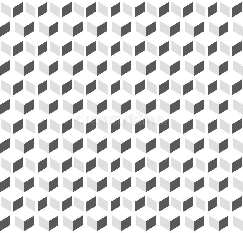 3d求无缝反复性三色几何的背景的立方- 库存例证