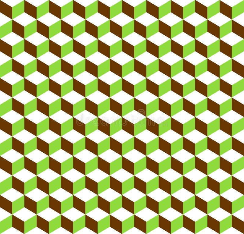3d求无缝反复性三色几何的背景的立方- 皇族释放例证