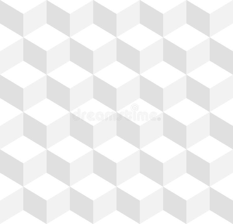 3d求无缝反复性三色几何的背景的立方- 向量例证