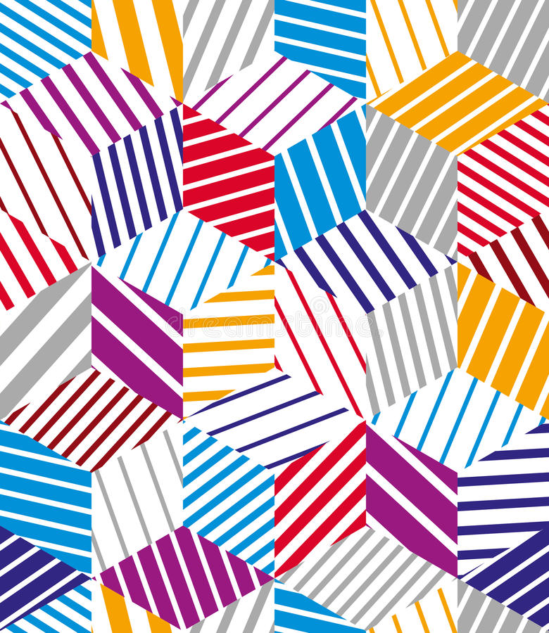 3d求无缝的样式的立方,几何 皇族释放例证