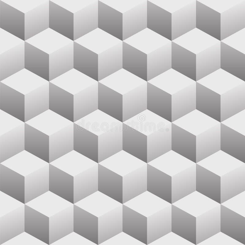 3D求无缝的重复的样式传染媒介例证的立方 皇族释放例证