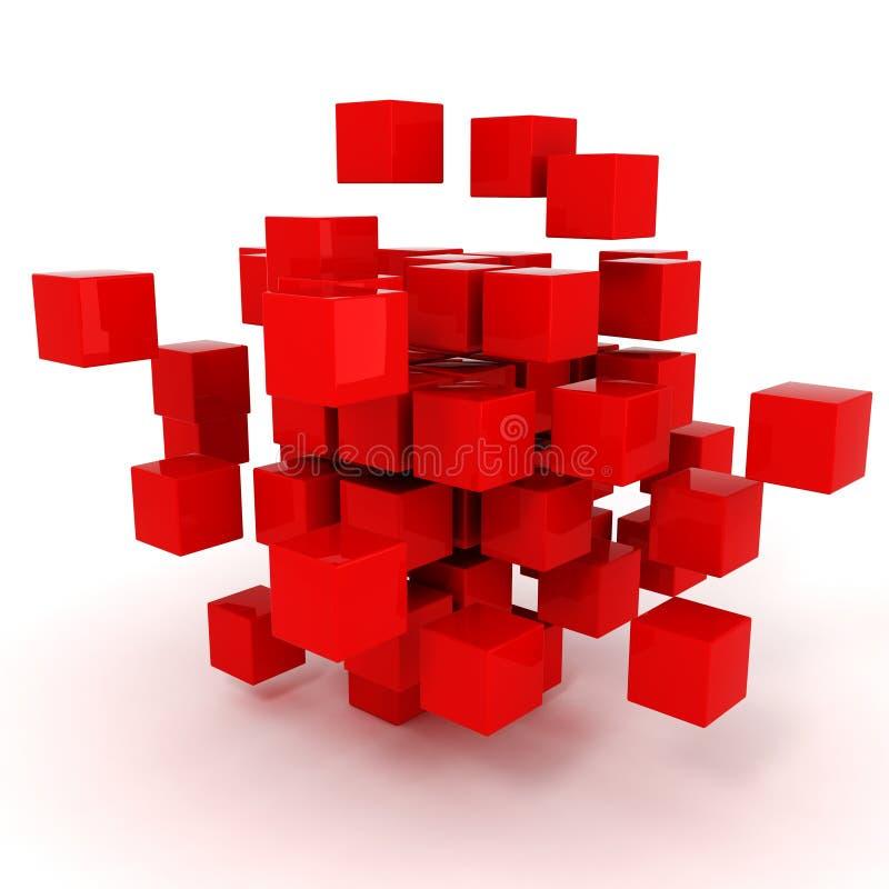 3d求难题的立方 库存例证