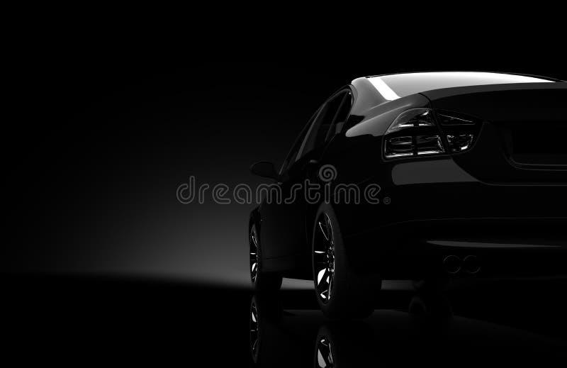 3d汽车设计 库存例证