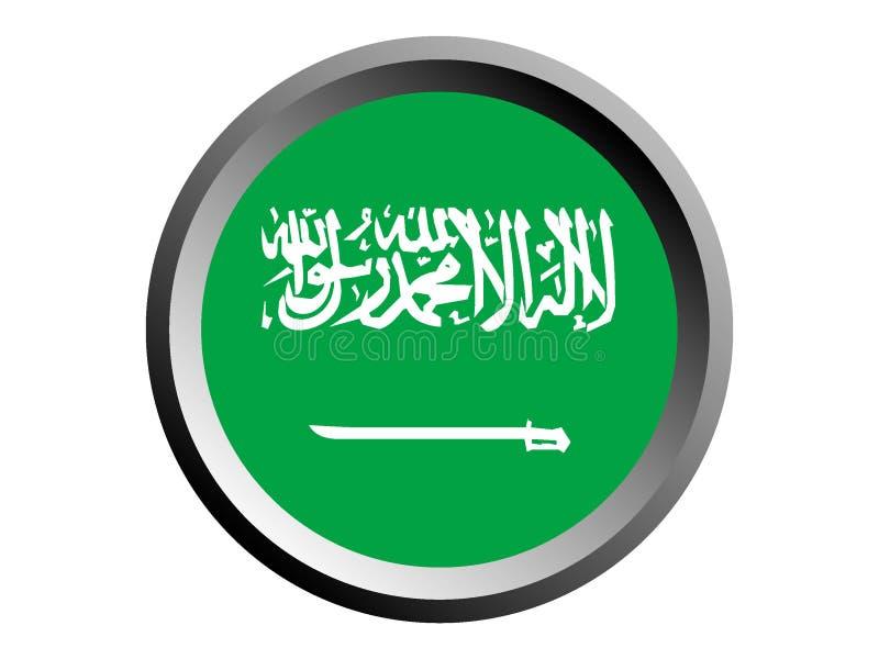3D沙特阿拉伯的回合旗子 皇族释放例证