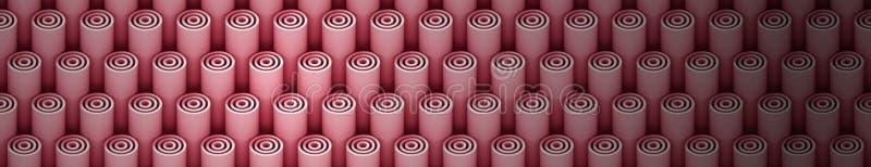 3d浅红色的3d管的背景样式 皇族释放例证