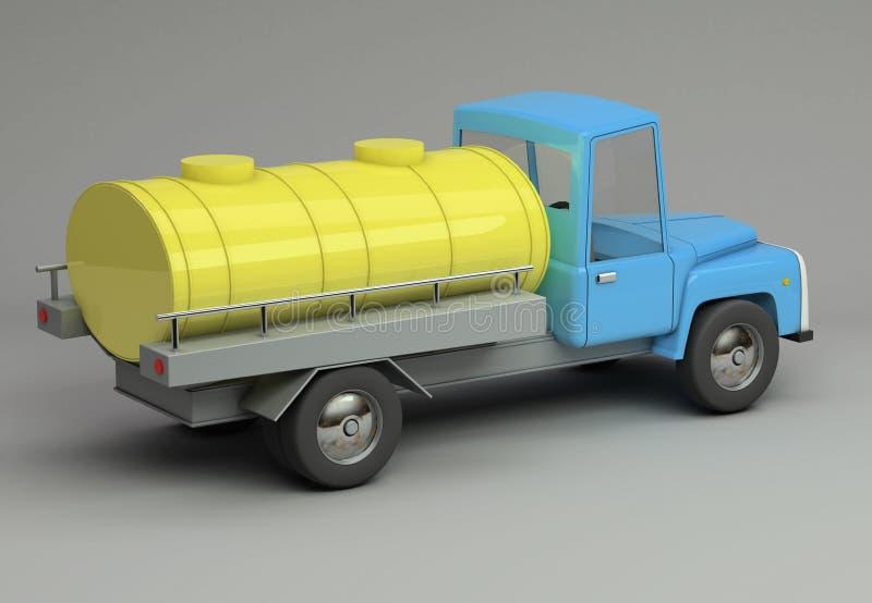 3d滑稽的减速火箭的被称呼的汽车翻译  向量例证