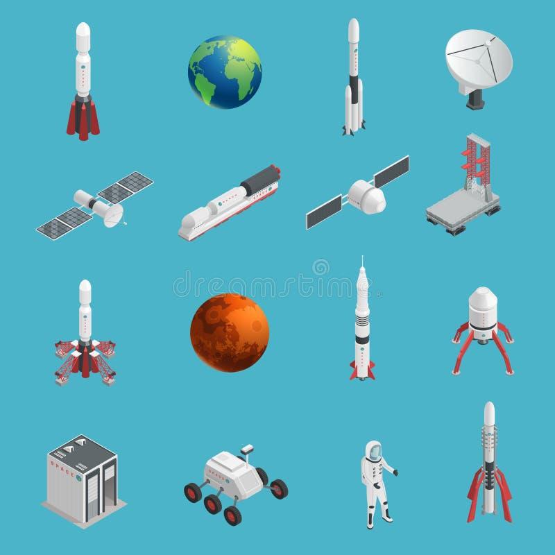 3d火箭队空间象集合 向量例证